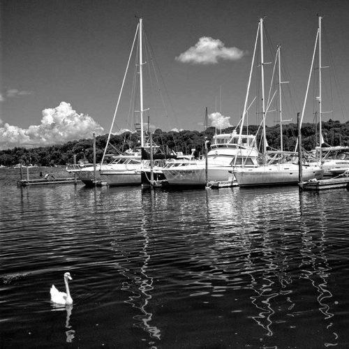 art print titled boats