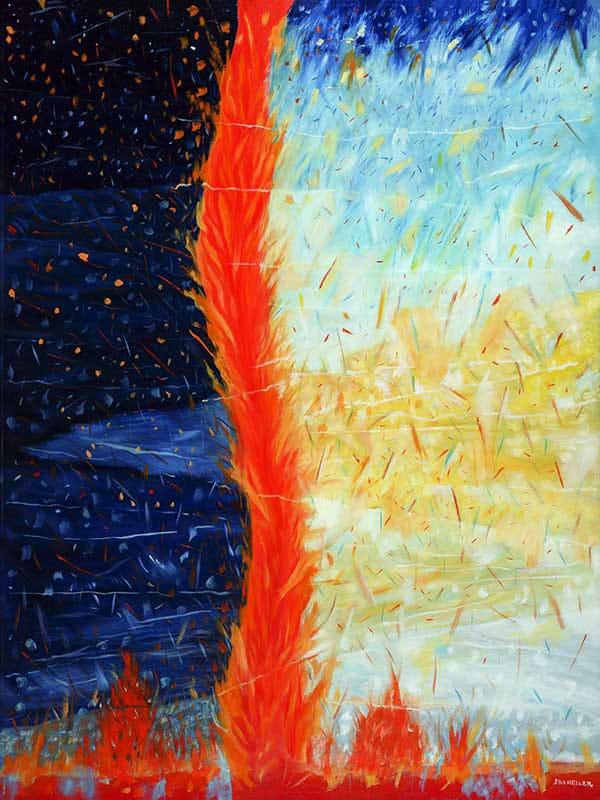 """Genesis 5"""" (Genesis) - Original art modern abstract oil painting ..."""