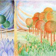 Losing Nature drawing by artist Daniel Heller