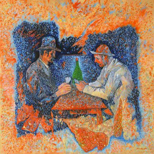 Painting Sorry Cezanne by artist Daniel Heller