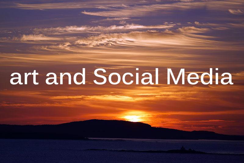 art social media
